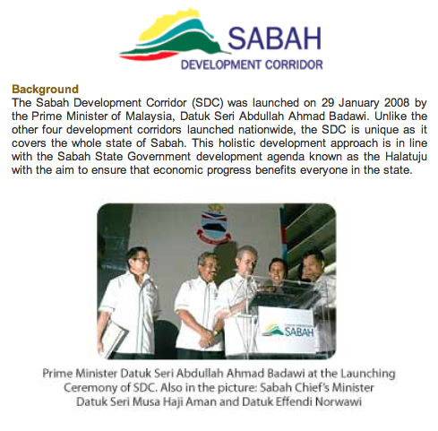 Sabah Development Corridor Sdc Massa
